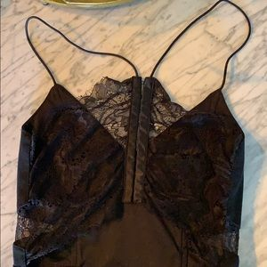 Little black dress with racy lace back